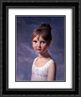 The Artist's Daughter 20x24 Black or Gold Ornate Framed and Double Matted Art Print by Pierre Narcisse Guerin