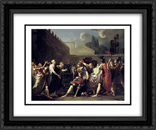The Death of Brutus 24x20 Black or Gold Ornate Framed and Double Matted Art Print by Pierre Narcisse Guerin
