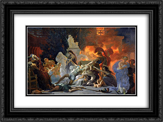 The Death of Priam 24x18 Black or Gold Ornate Framed and Double Matted Art Print by Pierre Narcisse Guerin