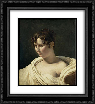 Young woman 20x22 Black or Gold Ornate Framed and Double Matted Art Print by Pierre Narcisse Guerin