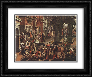 Apostles Peter and John 24x20 Black or Gold Ornate Framed and Double Matted Art Print by Pieter Aertsen