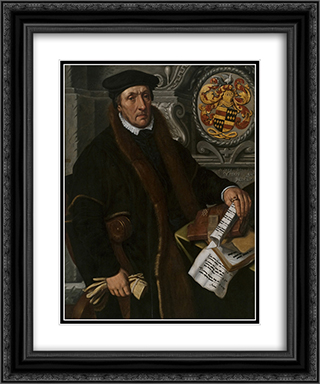 Portrait of Simon Marten Dircsz 20x24 Black or Gold Ornate Framed and Double Matted Art Print by Pieter Aertsen