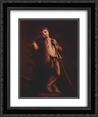 A Shepherd Boy 20x24 Black or Gold Ornate Framed and Double Matted Art Print by Pietro Longhi