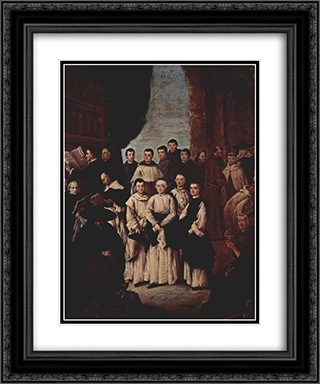 Friars in Venice 20x24 Black or Gold Ornate Framed and Double Matted Art Print by Pietro Longhi