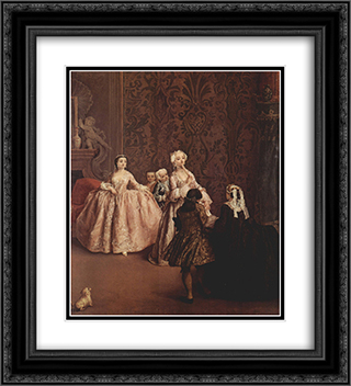 Presentation 20x22 Black or Gold Ornate Framed and Double Matted Art Print by Pietro Longhi