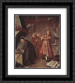 The Alchemists 20x22 Black or Gold Ornate Framed and Double Matted Art Print by Pietro Longhi