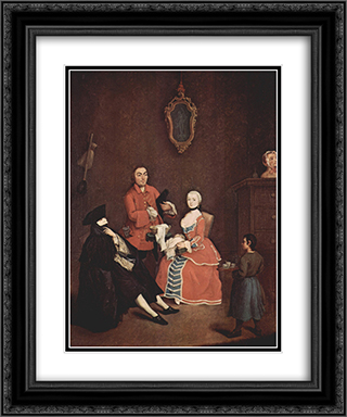 The hairdresser 20x24 Black or Gold Ornate Framed and Double Matted Art Print by Pietro Longhi