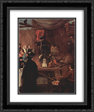 The Lion's Cage 20x24 Black or Gold Ornate Framed and Double Matted Art Print by Pietro Longhi