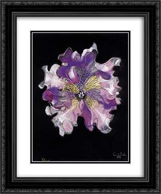 Purple Flower 20x24 Black or Gold Ornate Framed and Double Matted Art Print by Piroska Szanto