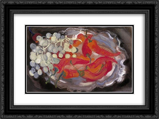 Red Peppers 24x18 Black or Gold Ornate Framed and Double Matted Art Print by Piroska Szanto