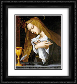 Pained Madonna 20x22 Black or Gold Ornate Framed and Double Matted Art Print by Plautilla Nelli