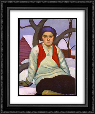 Anna 20x24 Black or Gold Ornate Framed and Double Matted Art Print by Prudence Heward