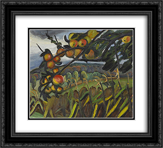 Apple Tree (Study for Portrait of Ellen) 22x20 Black or Gold Ornate Framed and Double Matted Art Print by Prudence Heward