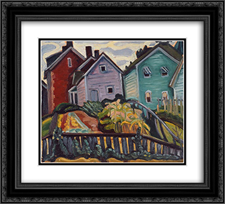 Back Garden 22x20 Black or Gold Ornate Framed and Double Matted Art Print by Prudence Heward