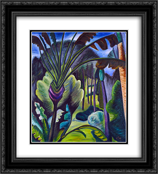 In Bermuda 20x22 Black or Gold Ornate Framed and Double Matted Art Print by Prudence Heward