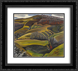 Landscape 22x20 Black or Gold Ornate Framed and Double Matted Art Print by Prudence Heward