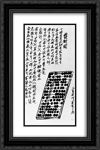 Abacus  16x24 Black or Gold Ornate Framed and Double Matted Art Print by Qi Baishi