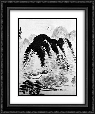 Homes  20x24 Black or Gold Ornate Framed and Double Matted Art Print by Qi Baishi