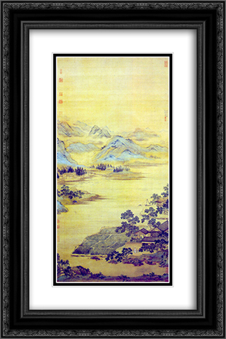 Fisherman Hermit 16x24 Black or Gold Ornate Framed and Double Matted Art Print by Qiu Ying