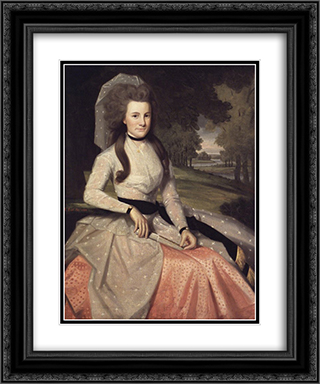 Clarissa Seymour (later Mrs. Truman Marsh) 20x24 Black or Gold Ornate Framed and Double Matted Art Print by Ralph Earl