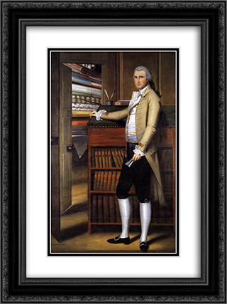 Earl's portrait of Elijah Boardman 18x24 Black or Gold Ornate Framed and Double Matted Art Print by Ralph Earl