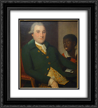 Gentleman with Attendant 20x22 Black or Gold Ornate Framed and Double Matted Art Print by Ralph Earl