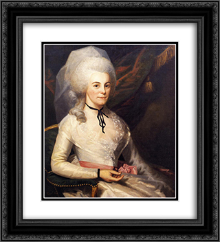 Mrs. Alexander Hamilton 20x22 Black or Gold Ornate Framed and Double Matted Art Print by Ralph Earl