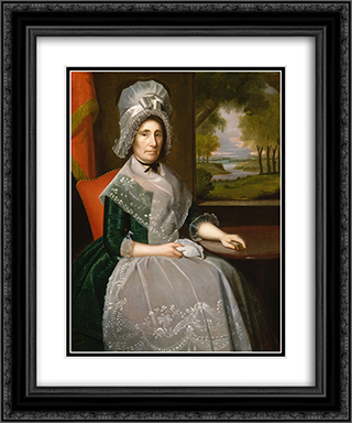 Mrs. Richard Alsop 20x24 Black or Gold Ornate Framed and Double Matted Art Print by Ralph Earl