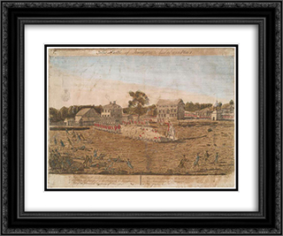 Plate I. The battle of Lexington, April 19th 1775 24x20 Black or Gold Ornate Framed and Double Matted Art Print by Ralph Earl