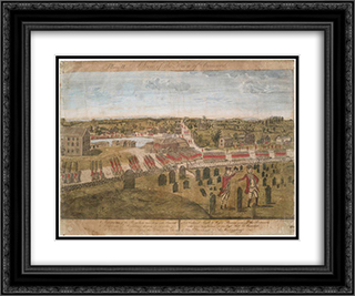Plate II. The British Army in Concord 24x20 Black or Gold Ornate Framed and Double Matted Art Print by Ralph Earl