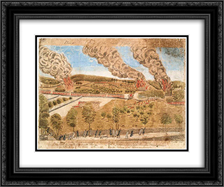 Plate IV. A view of the south part of Lexington 24x20 Black or Gold Ornate Framed and Double Matted Art Print by Ralph Earl