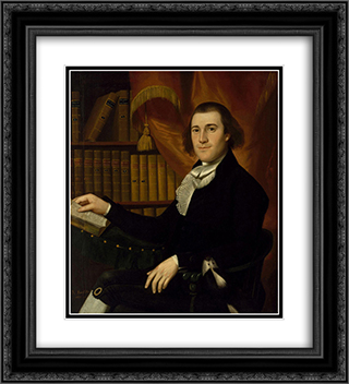 Portrait of Dr. Mason Fitch Cogswell 20x22 Black or Gold Ornate Framed and Double Matted Art Print by Ralph Earl