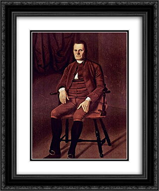 Portrait of Roger Sherman 20x24 Black or Gold Ornate Framed and Double Matted Art Print by Ralph Earl