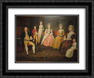 The Angus Nickelson Family 24x20 Black or Gold Ornate Framed and Double Matted Art Print by Ralph Earl