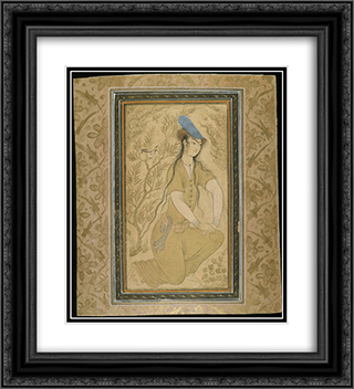 Girl 20x22 Black or Gold Ornate Framed and Double Matted Art Print by Reza Abbasi