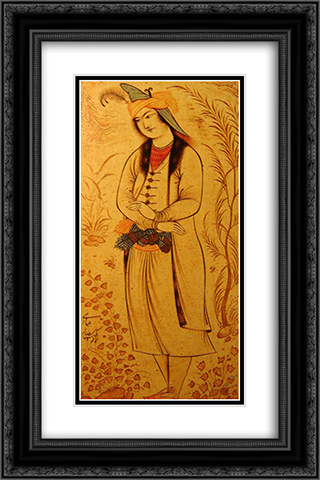 Prince Muhammad-Beik of Georgia 16x24 Black or Gold Ornate Framed and Double Matted Art Print by Reza Abbasi