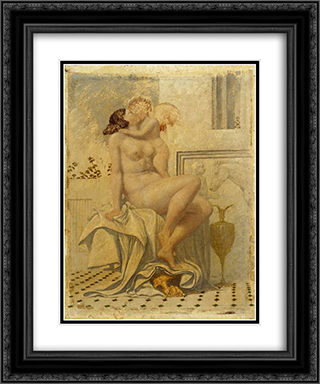 Cupid and Psyche 20x24 Black or Gold Ornate Framed and Double Matted Art Print by Richard Dadd