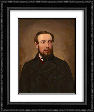 Dr William Orange 20x24 Black or Gold Ornate Framed and Double Matted Art Print by Richard Dadd