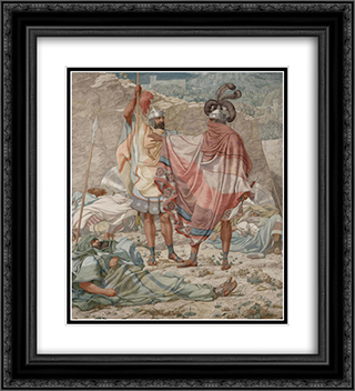 Mercy - David Spareth Saul's Life 20x22 Black or Gold Ornate Framed and Double Matted Art Print by Richard Dadd