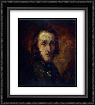 Portrait of a Man 20x22 Black or Gold Ornate Framed and Double Matted Art Print by Richard Dadd