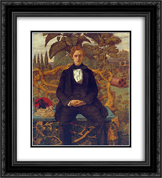 Portrait of a Young Man 20x22 Black or Gold Ornate Framed and Double Matted Art Print by Richard Dadd