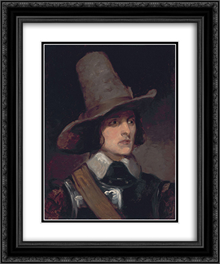 Portrait of Augustus Leopold Egg 20x24 Black or Gold Ornate Framed and Double Matted Art Print by Richard Dadd