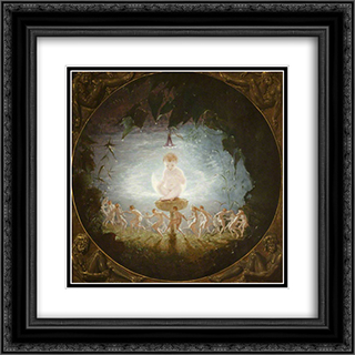 Puck 20x20 Black or Gold Ornate Framed and Double Matted Art Print by Richard Dadd