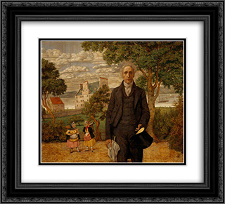 Sir Alexander Morison 22x20 Black or Gold Ornate Framed and Double Matted Art Print by Richard Dadd