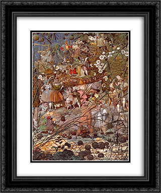 The Fairy Feller's Master-Stroke 20x24 Black or Gold Ornate Framed and Double Matted Art Print by Richard Dadd