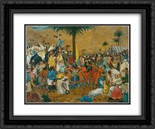 The Flight Out of Egypt 24x20 Black or Gold Ornate Framed and Double Matted Art Print by Richard Dadd