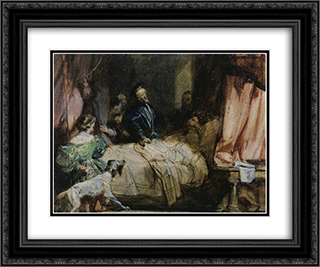 Charles V visits Francis I after the Battle of Pavia 24x20 Black or Gold Ornate Framed and Double Matted Art Print by Richard Parkes Bonington