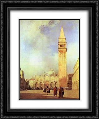 Piazza San Marco, Venice 20x24 Black or Gold Ornate Framed and Double Matted Art Print by Richard Parkes Bonington