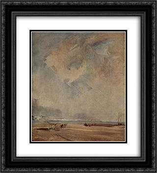The Norman coast 20x22 Black or Gold Ornate Framed and Double Matted Art Print by Richard Parkes Bonington