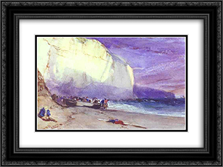 The Undercliff 24x18 Black or Gold Ornate Framed and Double Matted Art Print by Richard Parkes Bonington